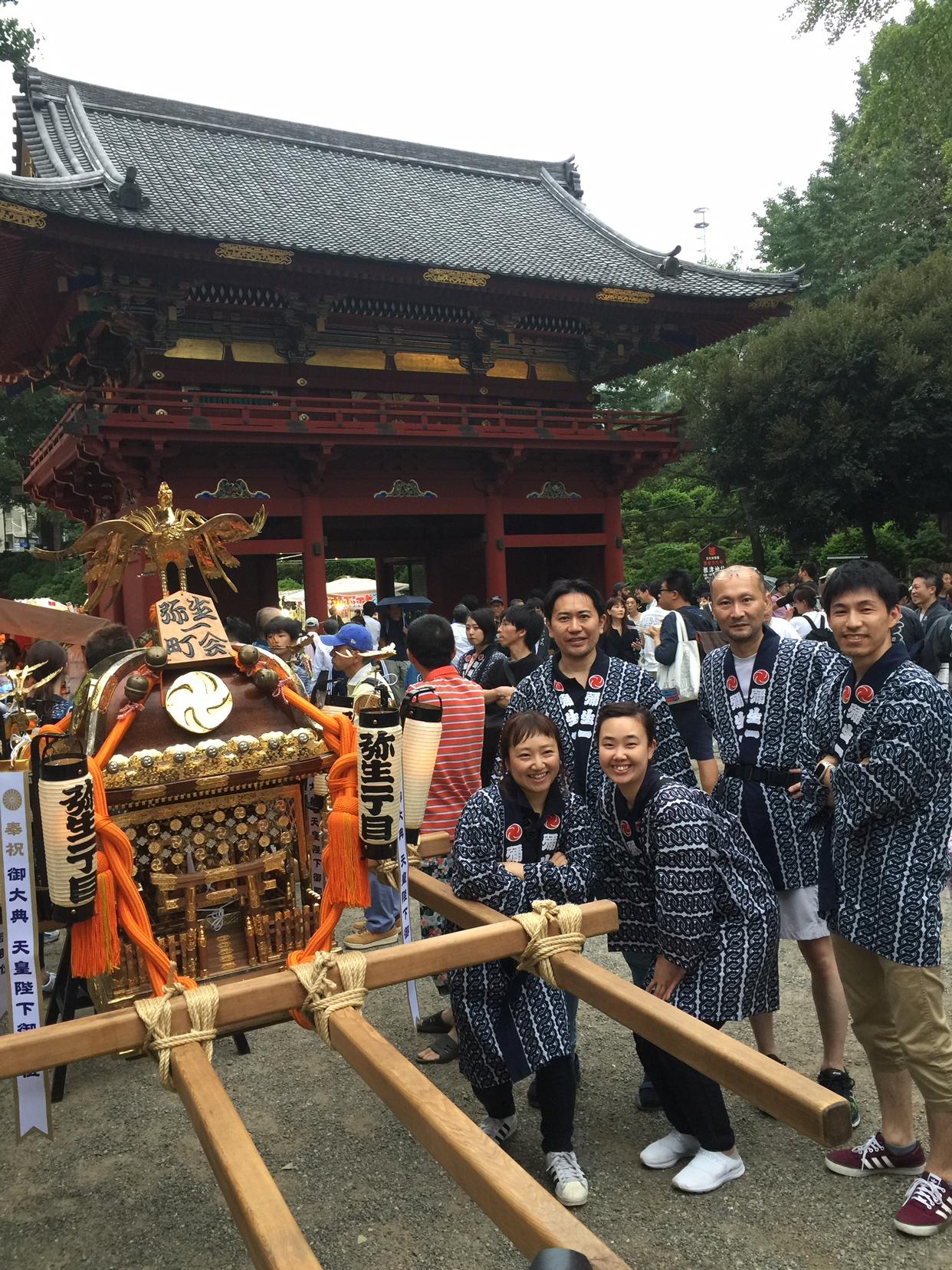 根津神社例大祭に参加しました